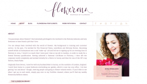 Flowerona website