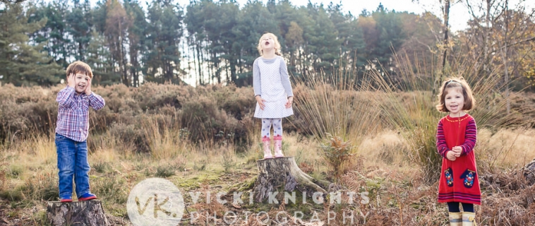 A family photo shoot in Hindhead, Surrey
