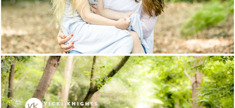 A family photo shoot in Ottershaw, Surrey