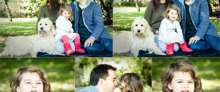 A family photo shoot at home in Esher