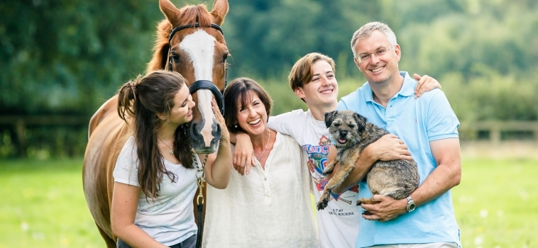 A family photo shoot with teenagers in Farnham, Surrey