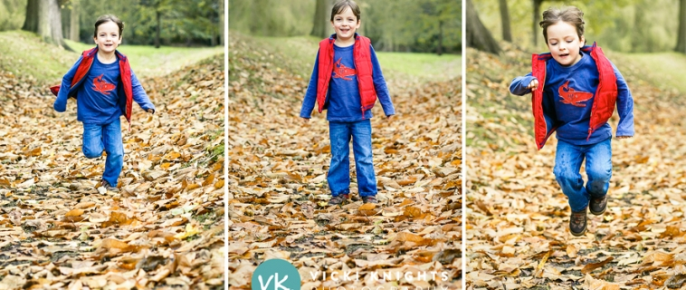 Autumn family photo shoot in Esher, Surrey