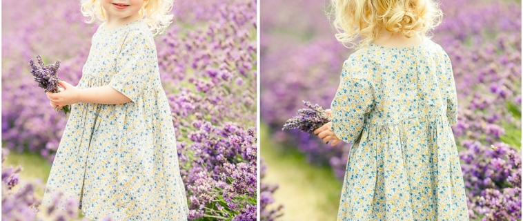 Family photo shoot at the lavender fields in Surrey