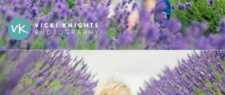 A baby photo shoot in the Surrey lavender fields