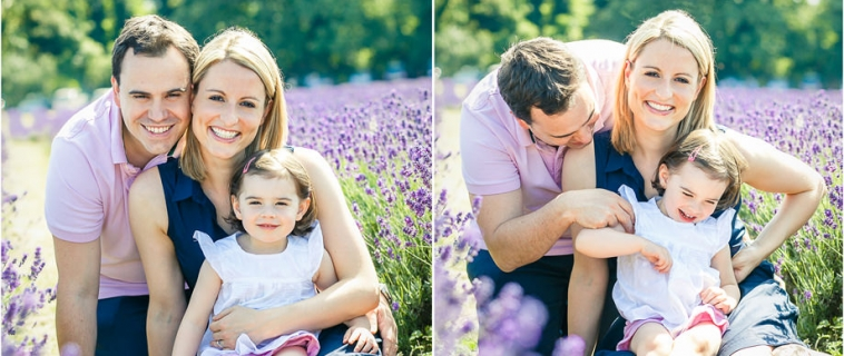 A family mini session in the lavender fields in Surrey