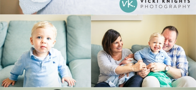 A lifestyle newborn photo session at home