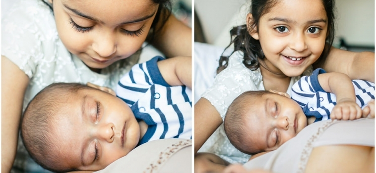 A newborn photo session at home in Surrey