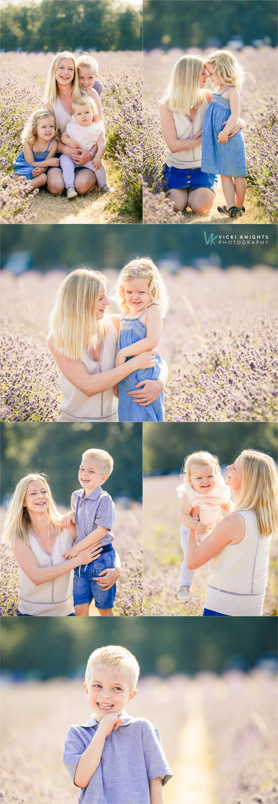 family photo session lavender