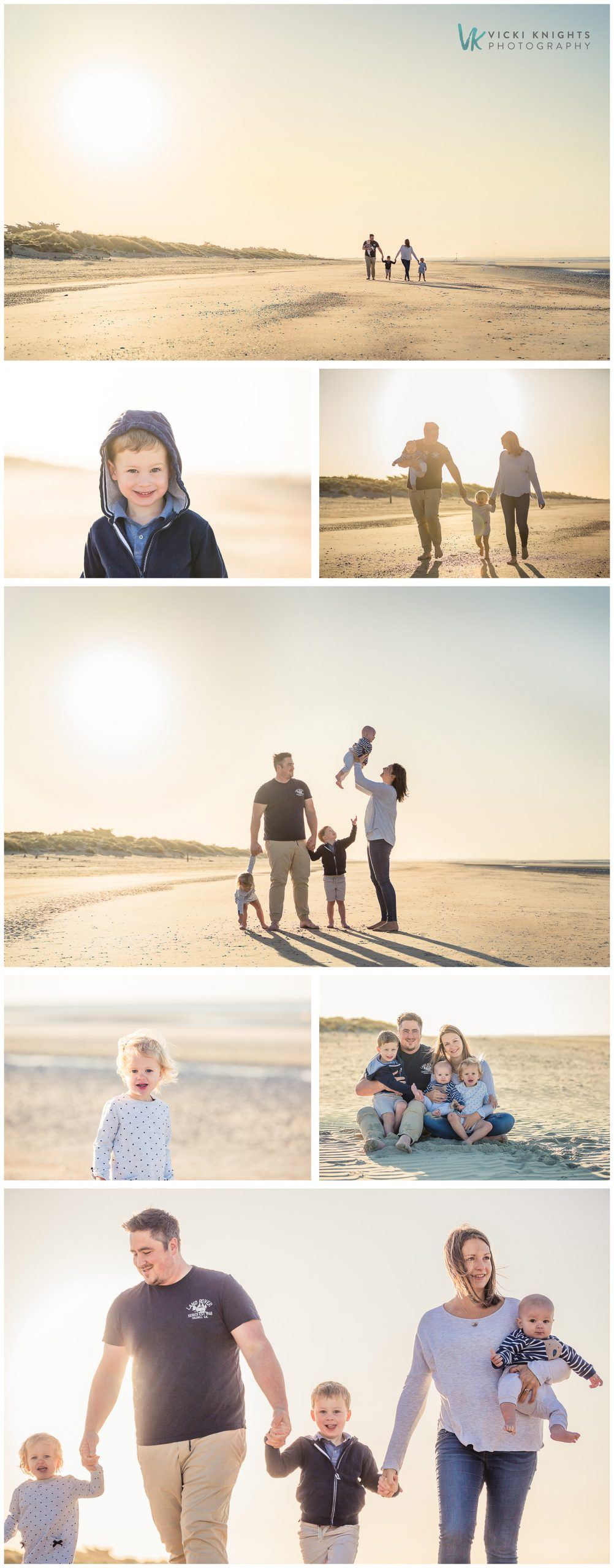 family photo shoot on the beach