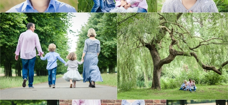 A summer family photo shoot in the park