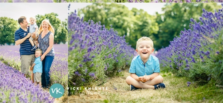 A family photo session in the lavender fields in Surrey