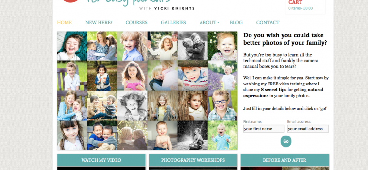 My new 'Photography for Busy Parents' website is live