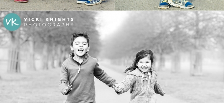 A family photo shoot outdoors in Surrey