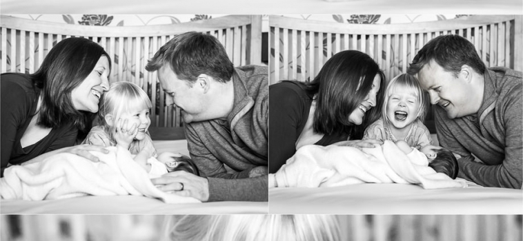 A newborn photo shoot at home in Surrey
